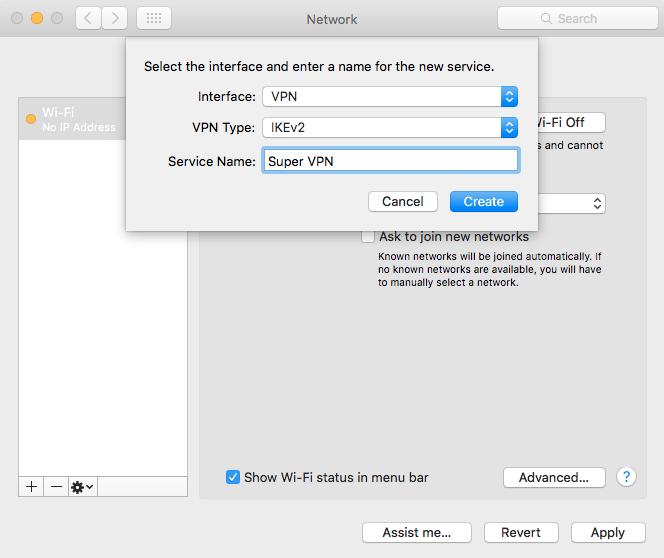 Universal IKEv2 Server Configuration
